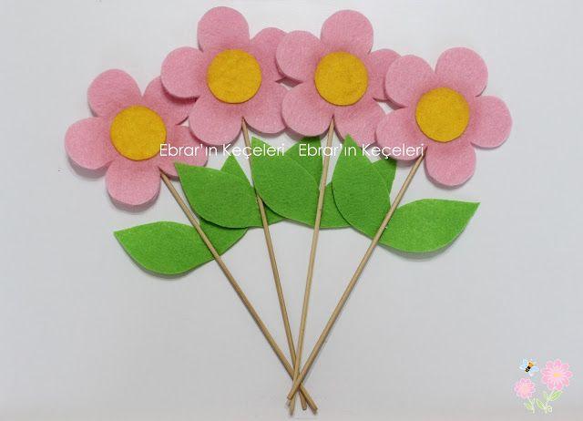 Ebrar'ın Keçeleri - Keçe Tasarım Ürünleri: Keçe Çiçekler