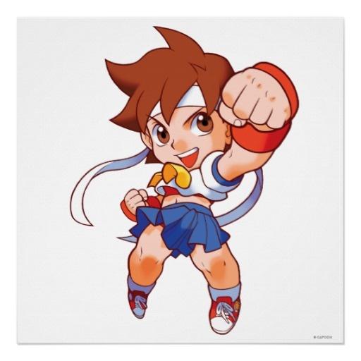 Pocket Fighter Sakura 2 Poster - Street Fighter - $20.00 #fanart