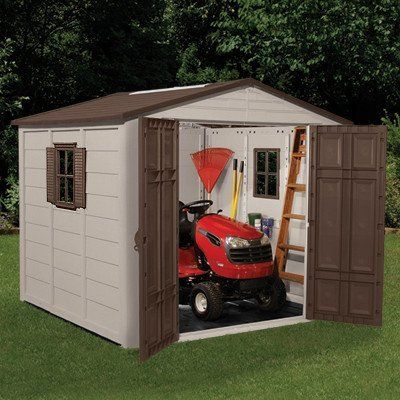 17 best mower shed images on pinterest for Sheds and storage units