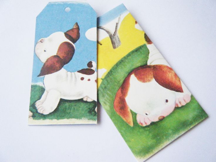 Handmade envelope and gift tag set, made from a up-cycled Little Golden Book