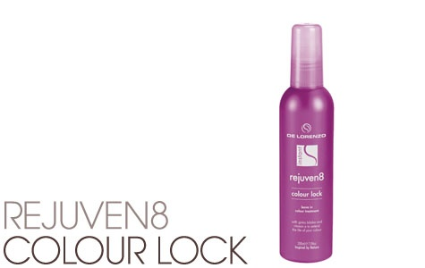Rejuven8 Colour Lock is an organically based product with Bilberry and Aloe Vera Extracts designed to extend the vibrancy of your hair colour available from Gorgeous Hair At Gorokan for just $28.95 this product is 100% Vegan, 100% made and owned and environmentally responsible :)