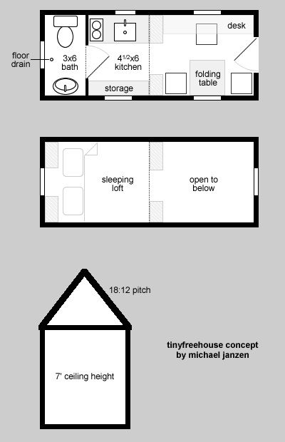 25 best ideas about tiny houses floor plans on pinterest for Home design 8x16