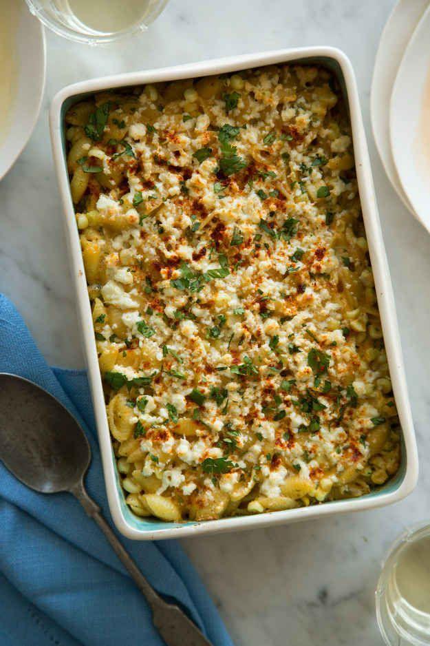 Käse-Makkaroni-Auflauf mit Mais