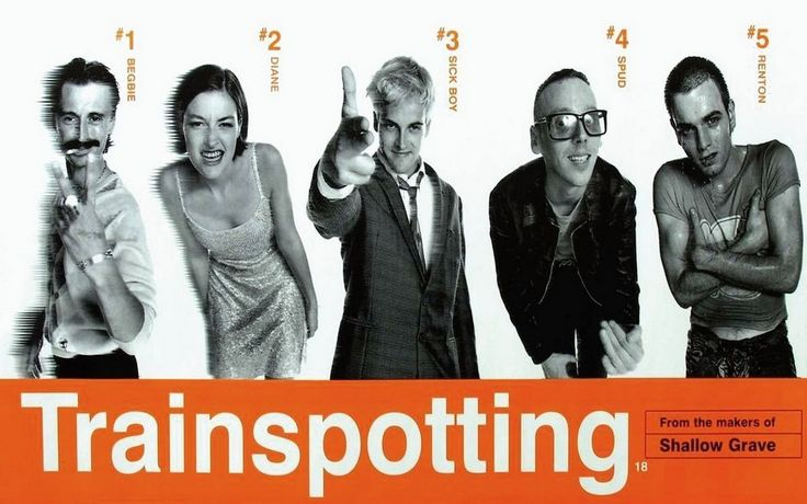 Trainspotting by Danny Boylehttps://www.youtube.com/watch?v=R2GKVtWsXKY