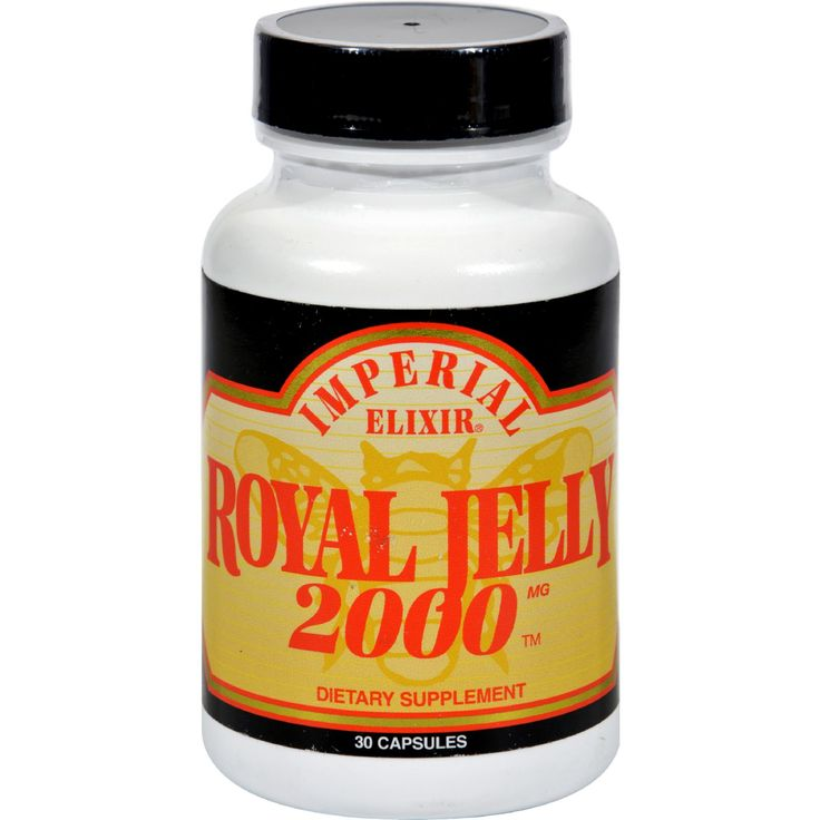 Imperial Elixir Royal Jelly 2000 - 2000 mg - 30 Capsules - Imperial Elixir Royal Jelly 2000 Description:  Dietary Supplement Royal Jelly is one the worlds most complete concentrated natural food sources for amino acids vitamins (especially B5) and live enzymes. Imperial Elixir contains fresh Royal Jelly which is freeze-dried into powder thus concentrating and preserving it. Connoisseurs know that Royal Jelly 2000 is one of the most potent encapsulated Royal Jelly products available…