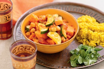 This top meal is inspired by Moroccan cuisine, is full of flavour and good for you, too.