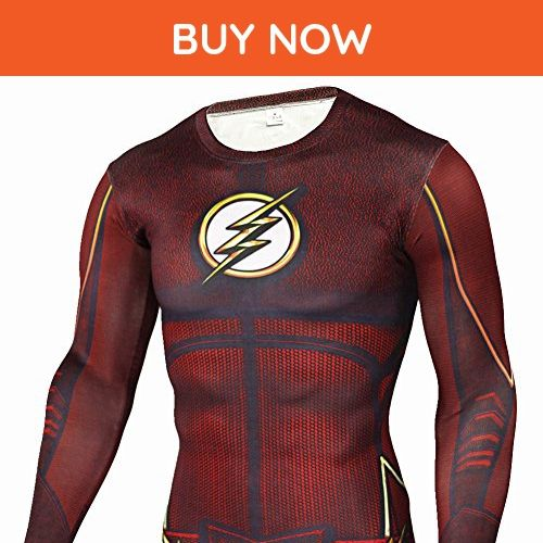 Cool Compression Gym Shirt Lightning/Flash Mens Running Long Sleeve Tee 2XL - Workout shirts (*Amazon Partner-Link)