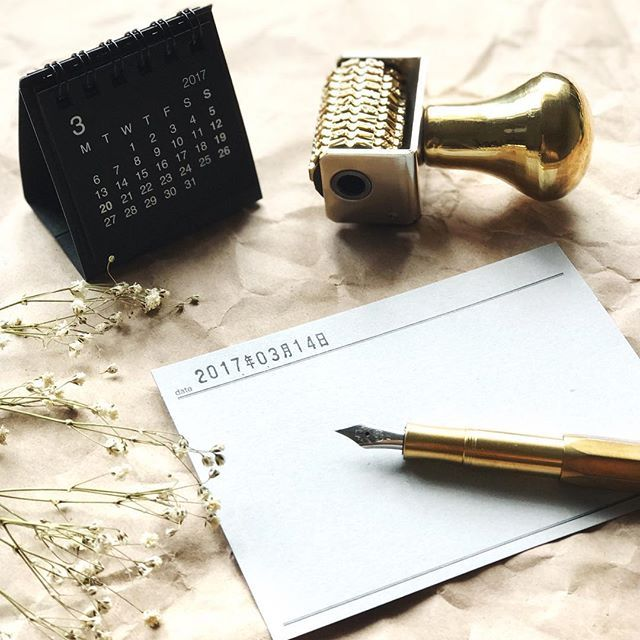 Have a great Tuesday ☘️ ---------------------------------- ☞ Rotary Brass Date Stamp L   Classiky Diary Card for more detail , pls visit : www.pipitzakkastore.com ---------------------------------- #pipitzakkastore #brass #rotary #datestamp #crafts #crafting #happycrafting #journaling #diary #rubberstamp #classiky #倉敷意匠 #muji #無印良品 #kaweco #fountainpen #travelersnote #stationerylove #stationery #stationeryholic #stationeryaddict #印章 #印章控 #文房具 #文具控 #vscocam #vsco