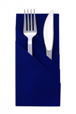 Navy Blue Pre Folded Tuxedo Fold Napkin - 24 Ct. Pkg