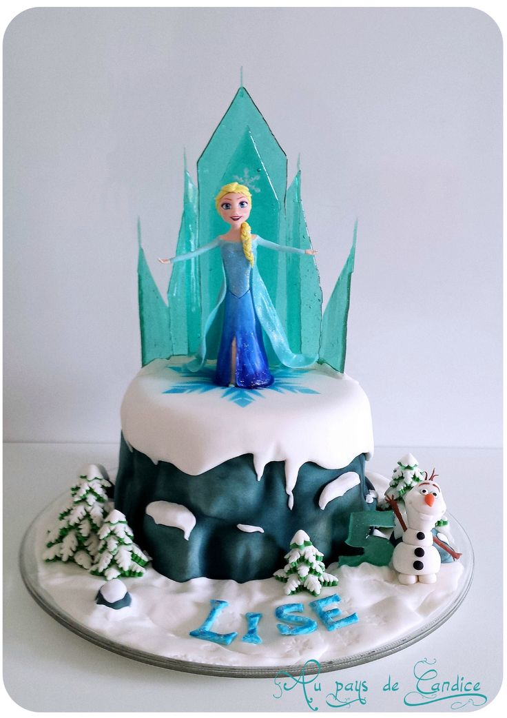 g teau reine des neiges tutoriel frozen cake tutorial. Black Bedroom Furniture Sets. Home Design Ideas