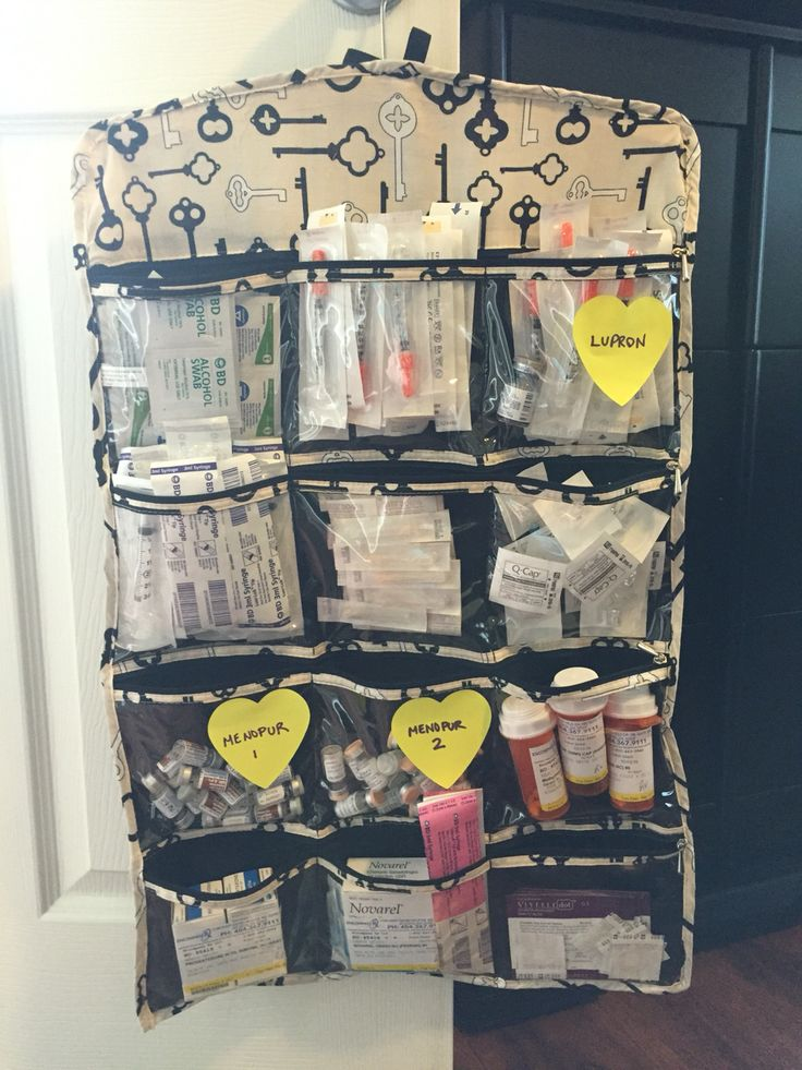 IVF meds organization - in a closet jewelry organizer. This has really helped us keep things neat and out of sight when needed.