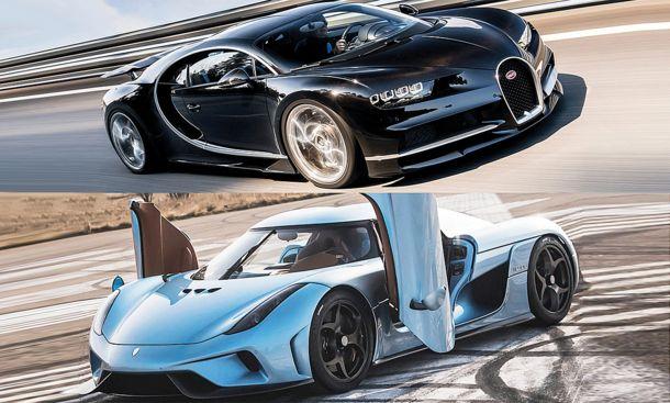 bugatti chiron koenigsegg regera vergleich sport supersportwagen autozeitung autos und