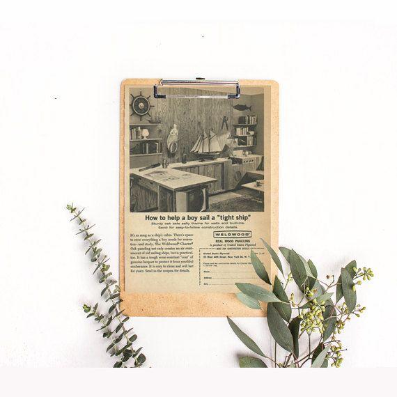 Home Paneling Ad Wood Paneling Vintage Study Photo Oak