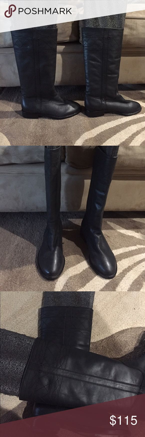 Joie leather black boots New without box Joie Black Boots. They are pull on style. No zipper. Joie Shoes