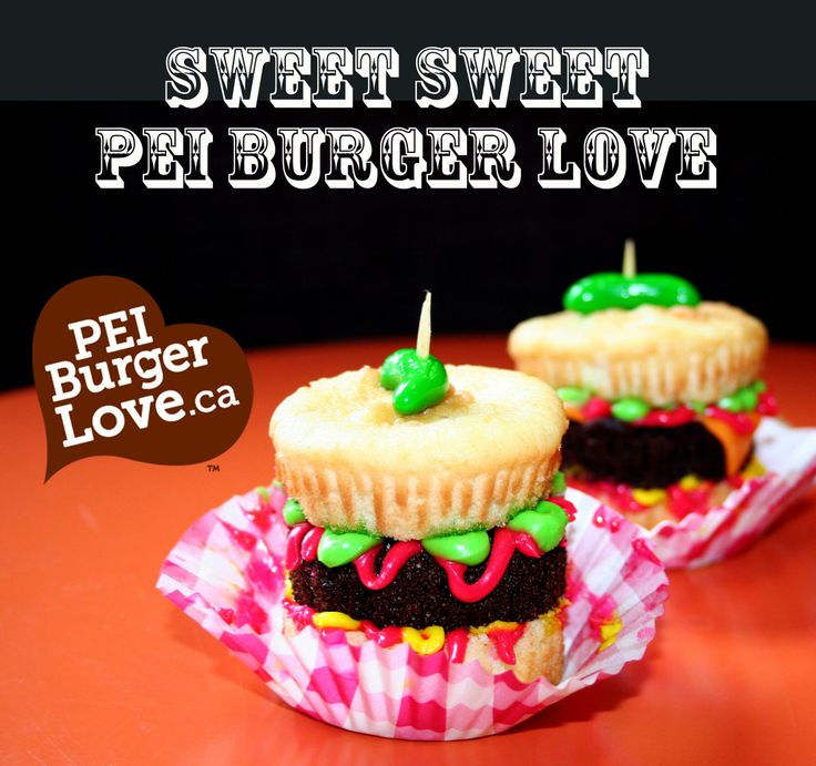 Tasty PEI Burger Love inspired treats made by  sisters Margie and Cathy Villard. Nicely done, ladies! For more PEI Burger Love goodness visit http://peiburgerlove.ca/