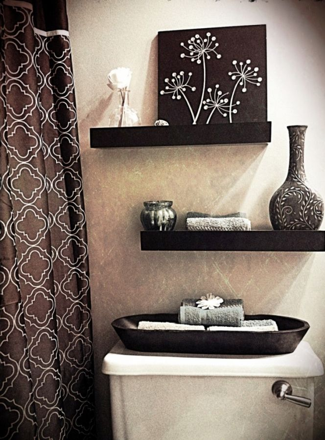bathroom beautiful small bathroom decoration with stunning wall decor and other ornaments bathroom wall decorating ideas for small bathroom in brown - Bathroom Decorating Ideas For Over The Toilet