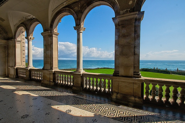 A view from the Breakers Mansion in Newport, RI. How lucky am I to have grown up and still live here?