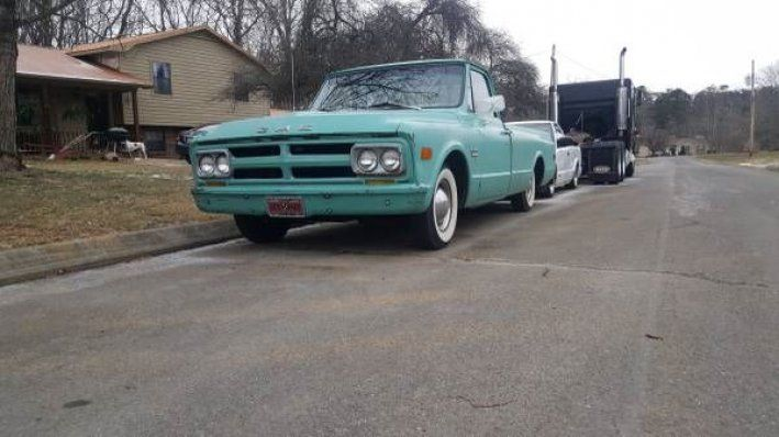 1968 GMC, Pick-UP  10995.00 USD  1968 GMC C10 shop truck, its perfect in every way! Its has that perfect patina, mechanically BRAND NEW!!!!!!!!!! New suspension, new everything! Just looks like a crusty 1968 gmc longbed. 1968 GMC C10 shop truck, its perfect in every way! Its has that perfect patina, mechanically BRAND NEW!!!!!!!!!! New suspension, new everything! Just looks like a crusty 1968 gmc longbed.  http://www.collectioncar.com/detailed.php?ad=57413&category_id=1