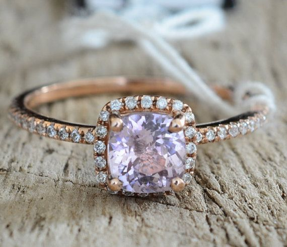 Certified 1.13 carat peach champagne sapphire rose by AllSapphires
