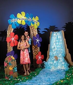 hawaiian theme backdrop