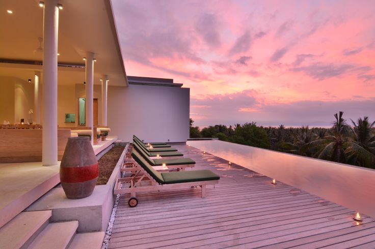 Sunset View From the Kamana Pool.