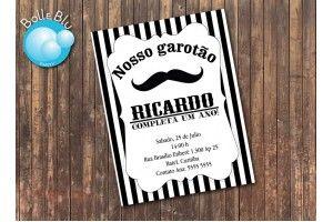 Convite Mustache Bigode