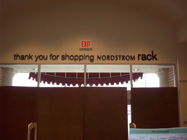 Dimensional Letters for Nordstrom Rack made from Black Acrylic. Installed by Houston Sign Company.