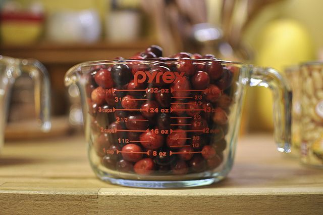 """homemade """"canned"""" cranberry sauce. The jelled stuff."""