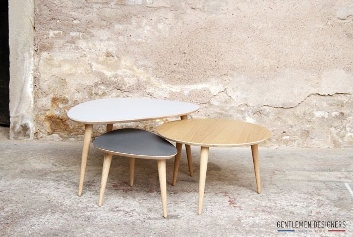 42 best images about table basse on pinterest vintage for Table basse tripode gigogne