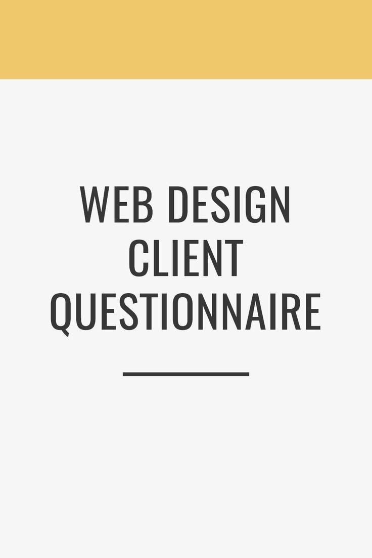 Client Questionnaire Web Design Web Design Tips Online Web Design