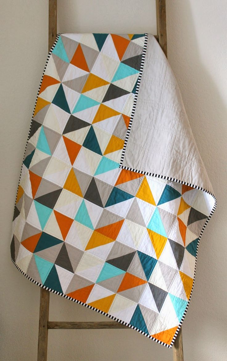 Warms + cools geometric baby quilt.