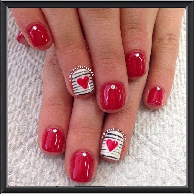 valentine by michellerose222 #nail #nails #nailart