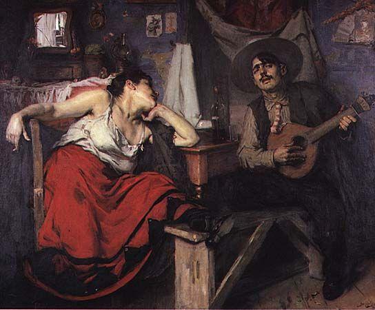 """José Malhoa (""""O Fado"""", 1910)"""