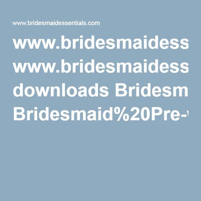 www.bridesmaidessentials.com downloads Bridesmaid%20Pre-wedding%20Timeline-Checklist.pdf