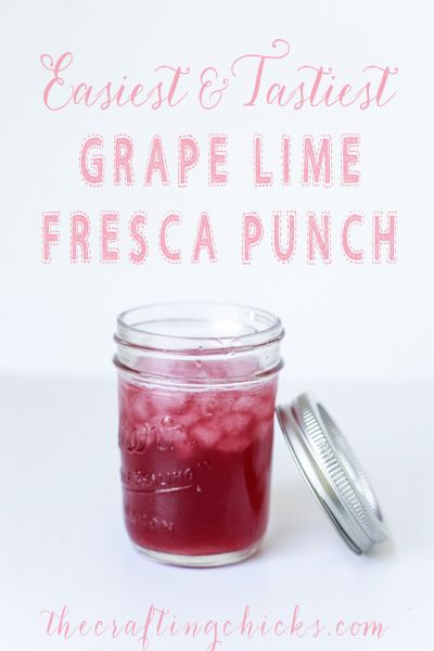 Easy and Tasty Grape Lime Fresca Punch - Fun party punch recipe.