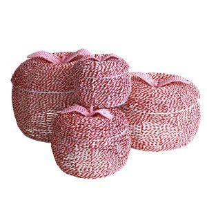 Love these... pink apple storage baskets.