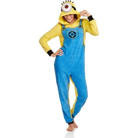 Minions Women's and Women's Plus One Piece Pajamas - Walmart.com