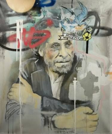 "Saatchi Art Artist Jérôme Rochette; Painting, ""Bukowski Blue Bird"" #art"