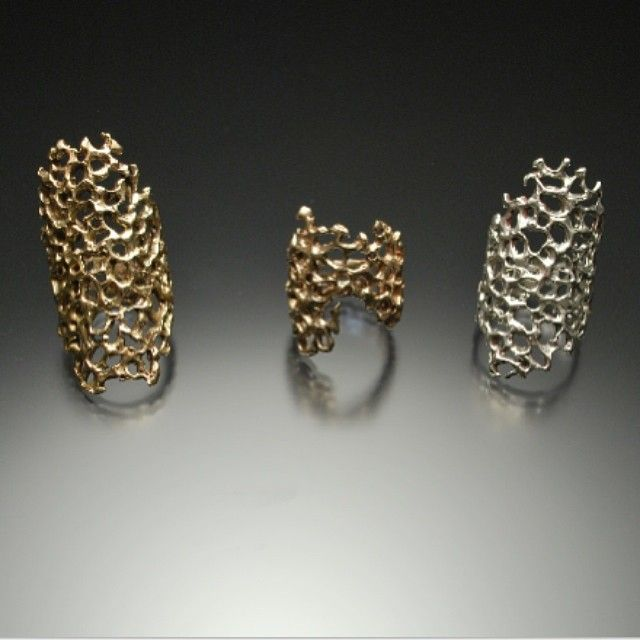 Coral-esque jewellery cast in silver and metals by Joe Anglim(from Survivor!)