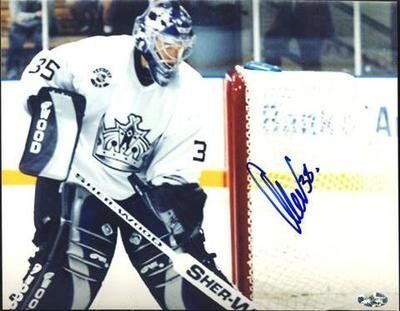 """Cristobal Huet L.A. Kings Autographed 8x10 Photo Montreal Canadians Rare SL COA . $25.00. L.A. Kings GoalieCristobal HuetHand Signed 8x10"""" Color Photograph.GREAT AUTHENTIC HOCKEY COLLECTIBLE!!AUTOGRAPHS AUTHENTICATED BY SPORTS LOT WITH NUMBERED SPORTS LOTSTICKER ON ITEM.SL COA#: 10289"""