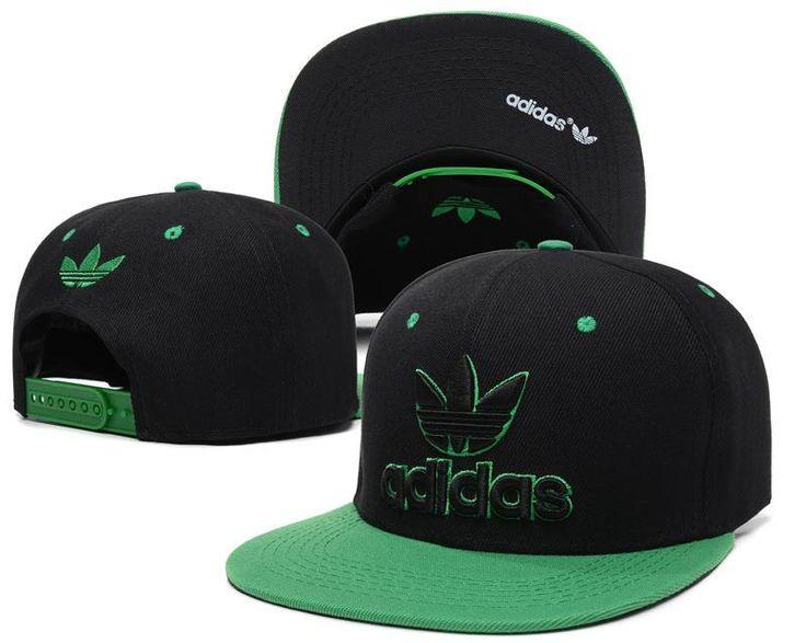 Mens Adidas Originals Thrasher Clover Logo Embroidery Front Best Quality Retro Baseball Snapback Cap - Black