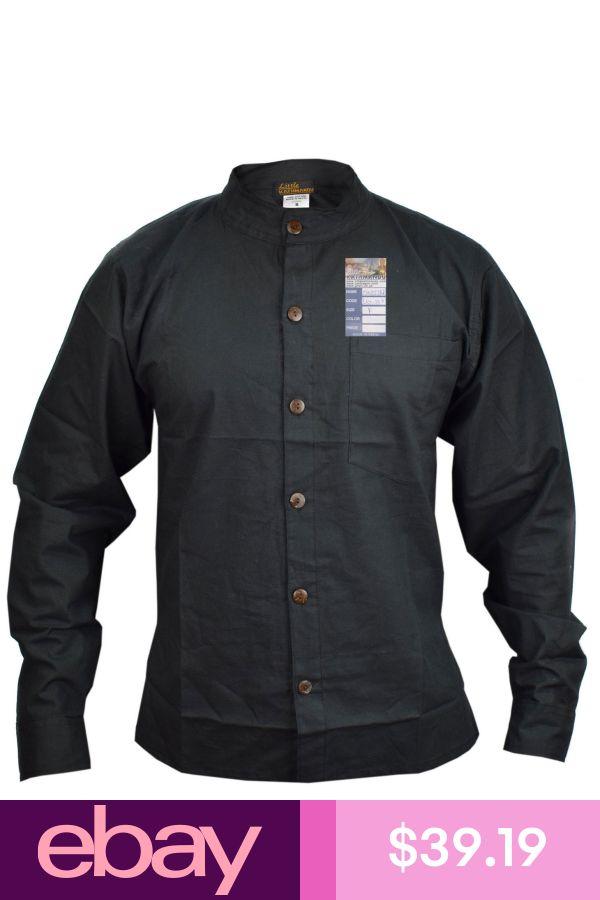 Linen Cotton Plain Button Down Grandad Summer Light Casual Lounge Shirt
