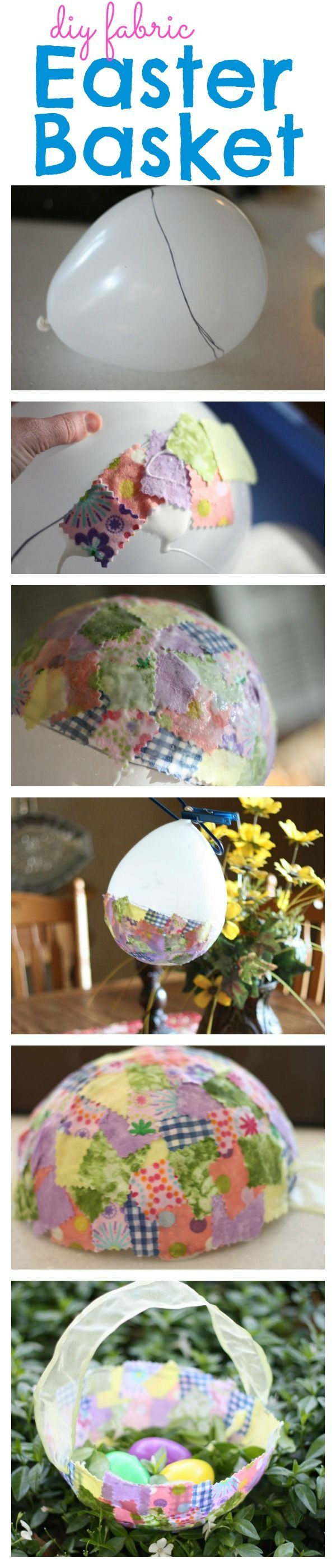 Except it being a basket make it into a large fabric egg. Seeing as the mod podge will keep