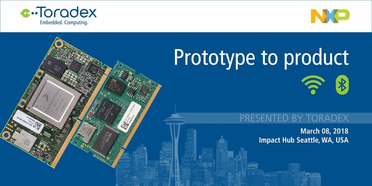 """We invite you to be part of our upcoming event """"Prototype to Product"""" in Seattle, WA, on March 08, 2018. You'll learn about the challenges you may face turning your IoT prototype into a product that you can sell, and you'll also get a  glimpse into Toradex Innovation and the future of embedded software. Grab your free spot today!"""