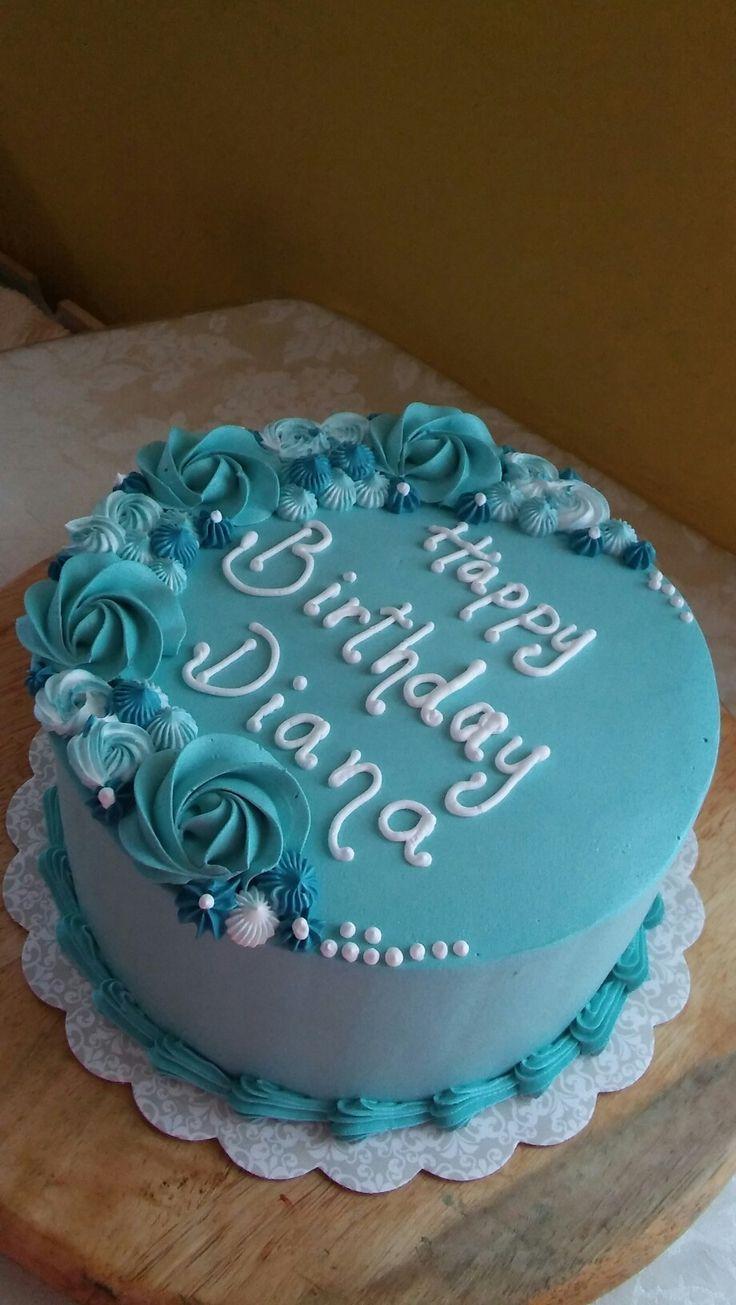 cake icing design names Teal Roses birthday cake  Cake decorating designs, Cake, Cake