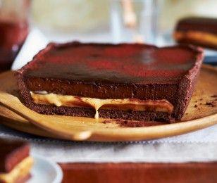 Schokoladen-Karamell-Tarte