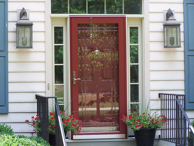 residential front doors red. Replacement Residential Entry Door With Storm - Google Search · Red Front DoorsRed Doors