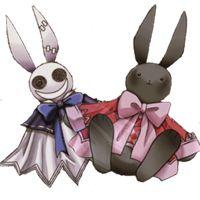 Белый кролик это Воля Бездны .Чёрный Алиса . Так привыкли изображать двух сестёр .