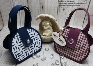 Ann's Happy Stampers: Cute little round Handbag using Layering circle fr...