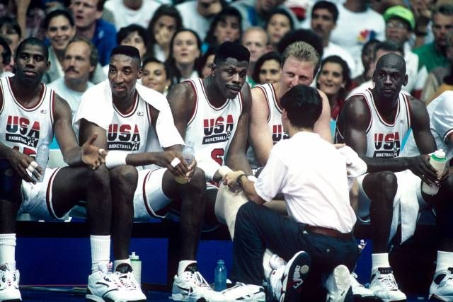 Basket - Magic Scottie Pat Larry Michael, dream team